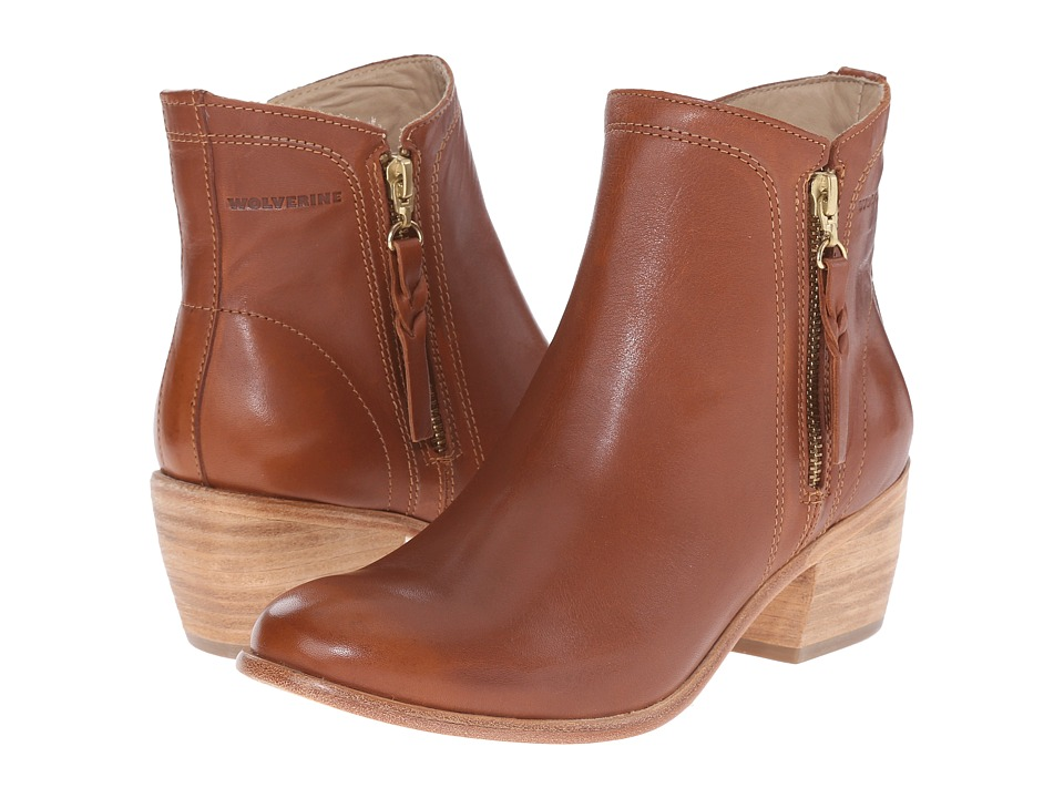 Wolverine - Ella 5 (Tan Leather) Women's Zip Boots