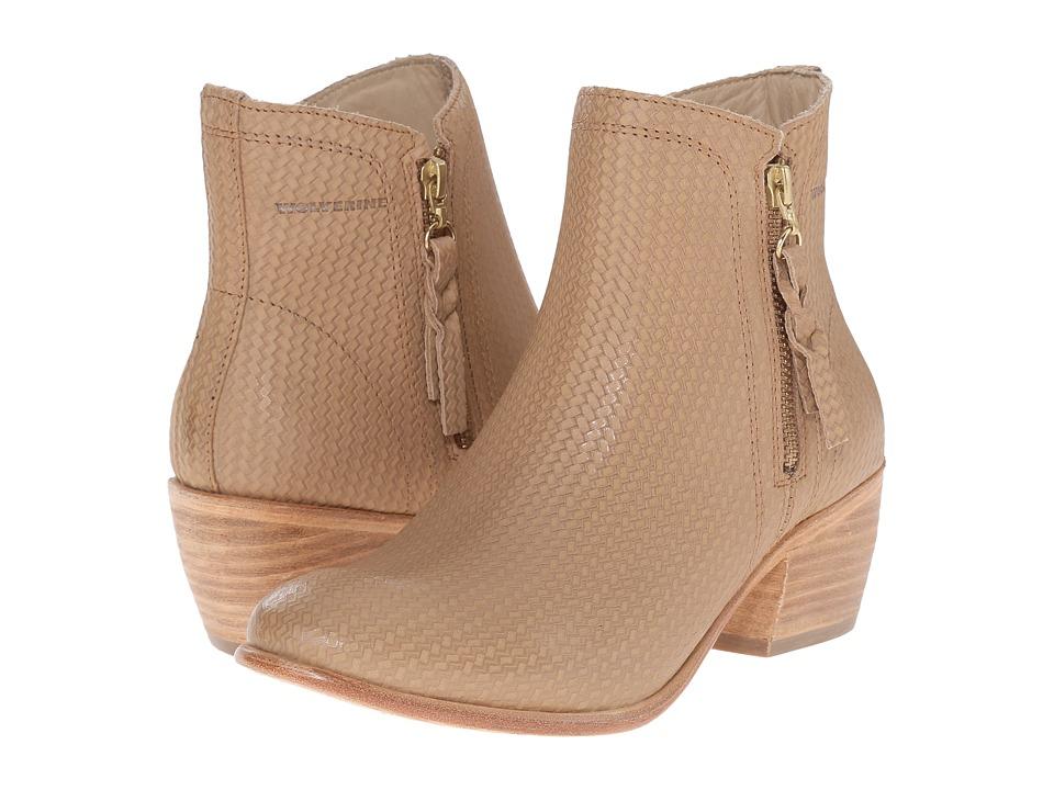 Wolverine - Ella 5 (Beige Leather) Women's Zip Boots