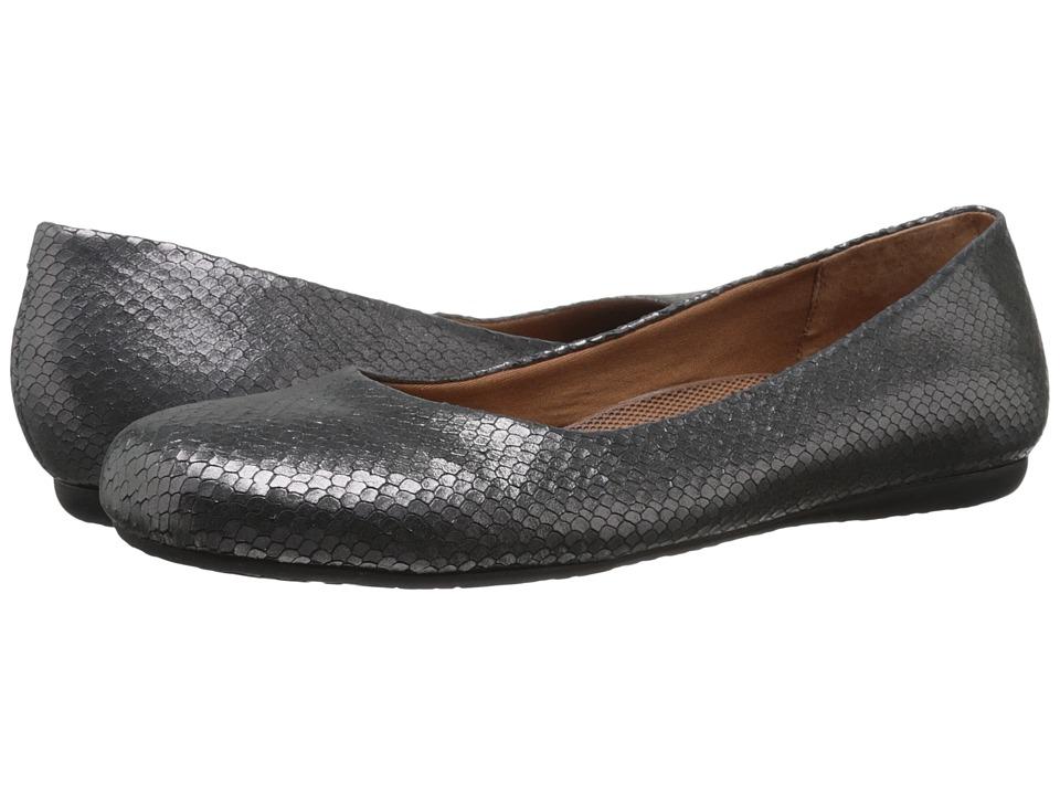 Walking Cradles - Blue (Pewter Metallic Snake Print) Women's Flat Shoes