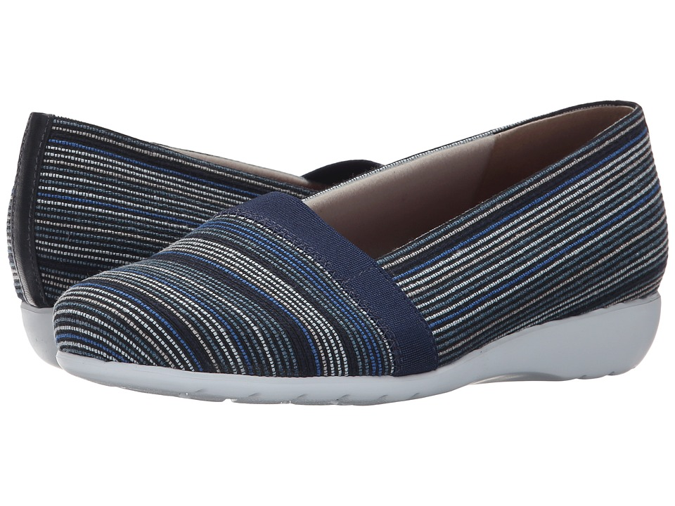Munro - Bonita (Blue Multi Fabric) Women's Slip on Shoes