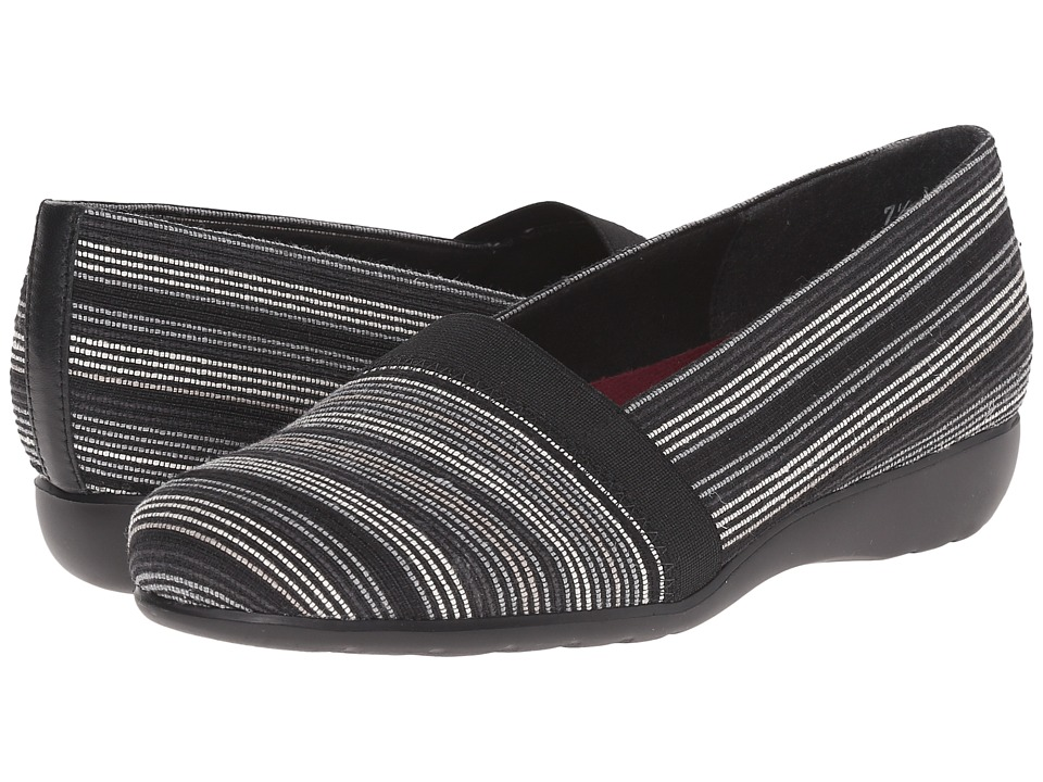 Munro - Bonita (Black Multi Fabric) Women's Slip on Shoes