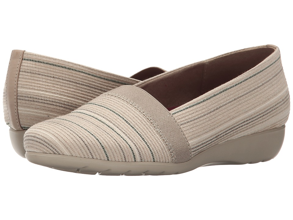 Munro - Bonita (Natural Metallic Fabric) Women's Slip on Shoes
