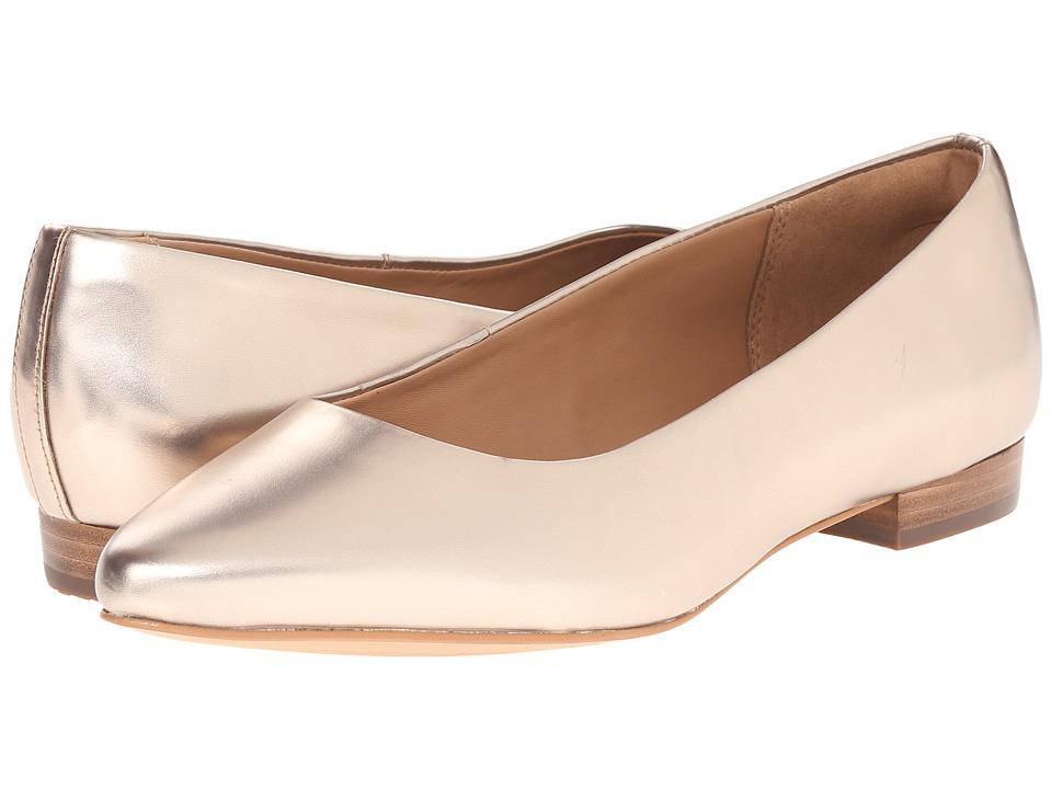 Clarks - Corabeth Abby (Champagne Leather) Women's 1-2 inch heel Shoes