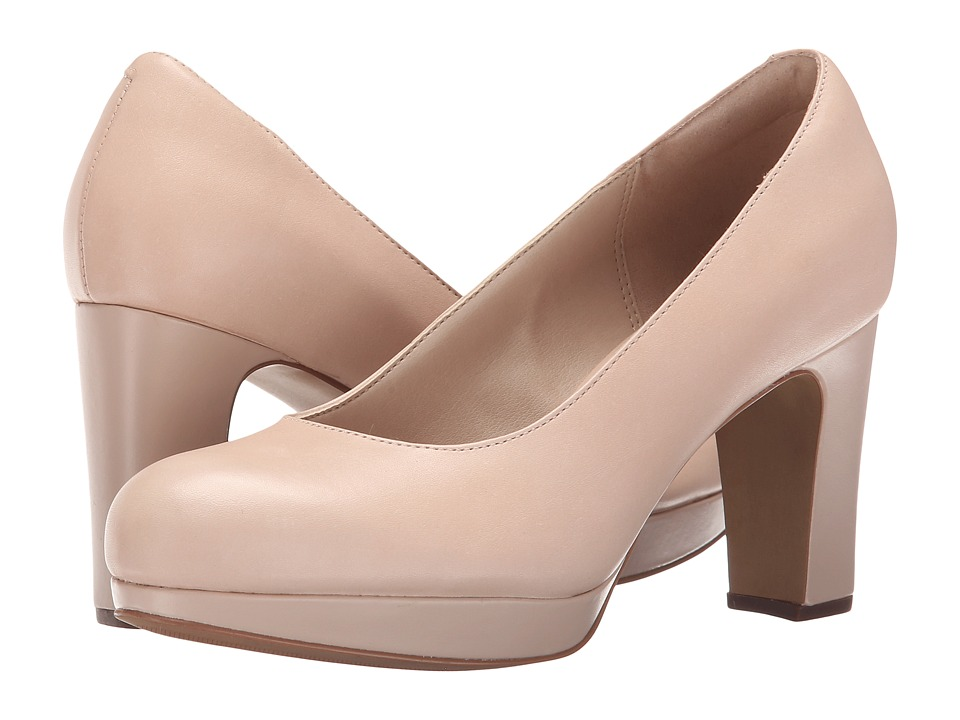 Clarks - Jenness Glory (Nude Leather) High Heels