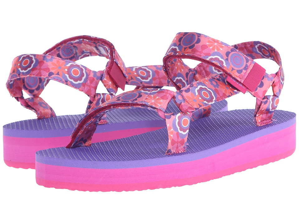 Teva Kids - Hi-Rise Universal (Little Kid/Big Kid) (Pink Multi Flower) Girls Shoes