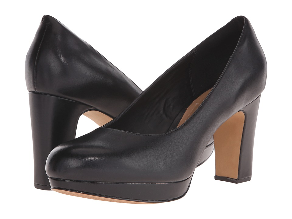Clarks - Jenness Glory (Black Leather) High Heels