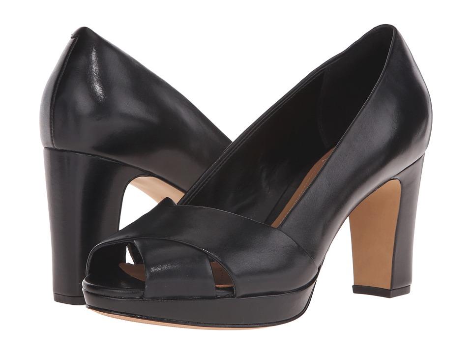Clarks - Jenness Cloud (Black Leather) Women's Shoes