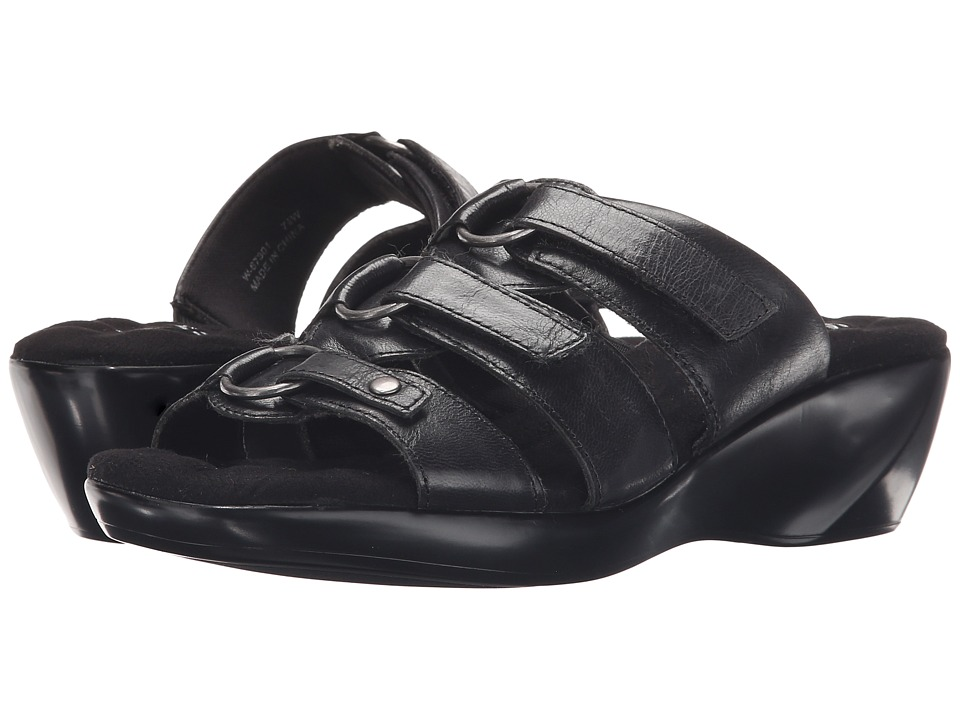Walking Cradles - Cast (Black Leather) Women's Sandals