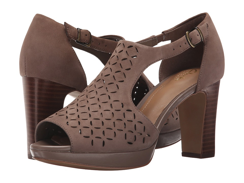 Clarks - Jenness Energy (Pebble Nubuck) High Heels
