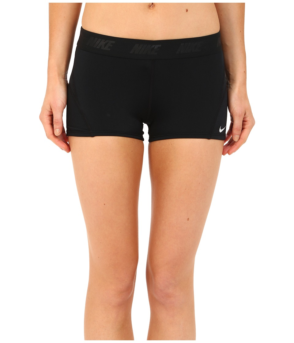 Nike - Solids Kick Short (Black) Women's Swimwear
