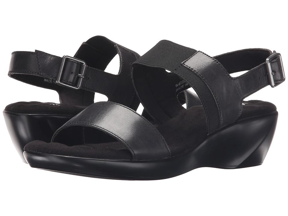 Walking Cradles - Climb (Black Leather) Women's Sandals