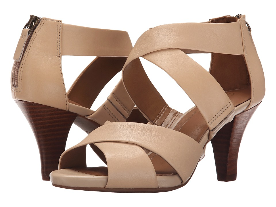 Clarks - Florine Sashae (Nude Leather) High Heels