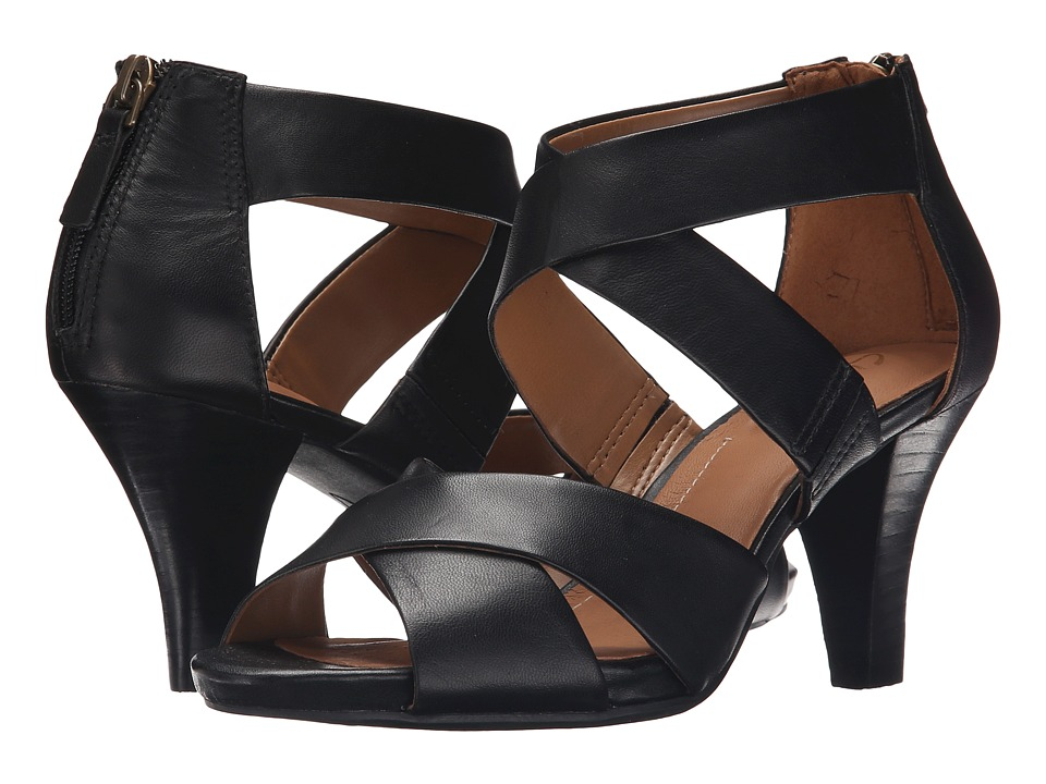 Clarks - Florine Sashae (Black Leather) High Heels