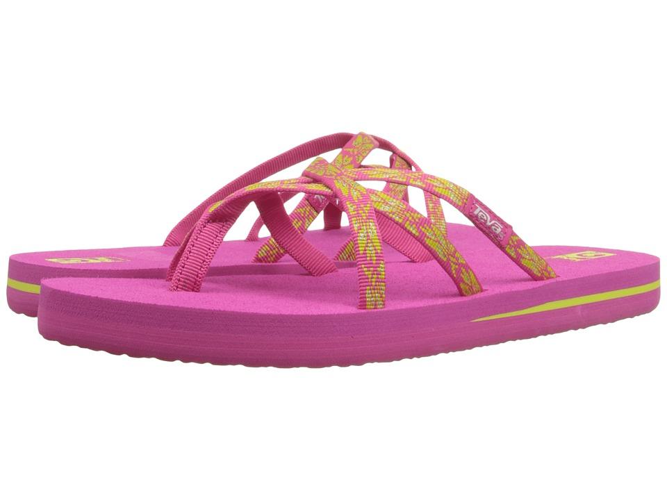 Teva Kids Olowahu (Little Kid/Big Kid) (Hazel Raspberry/Lime) Girls Shoes