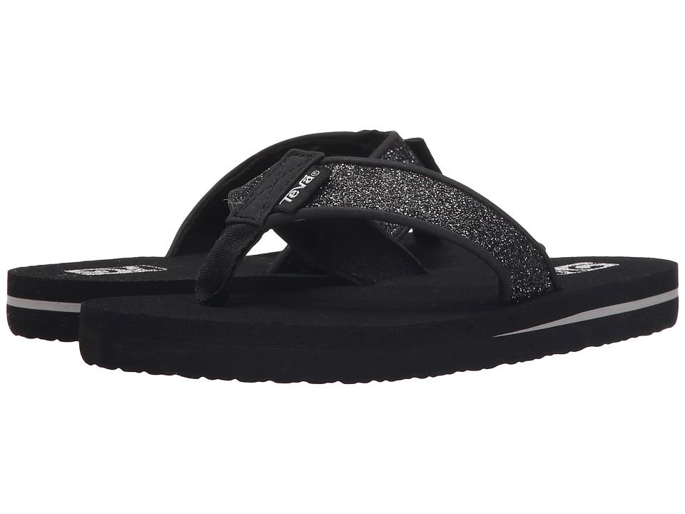 Teva Kids Mush II (Little Kid/Big Kid) (Black Sparkle) Girls Shoes