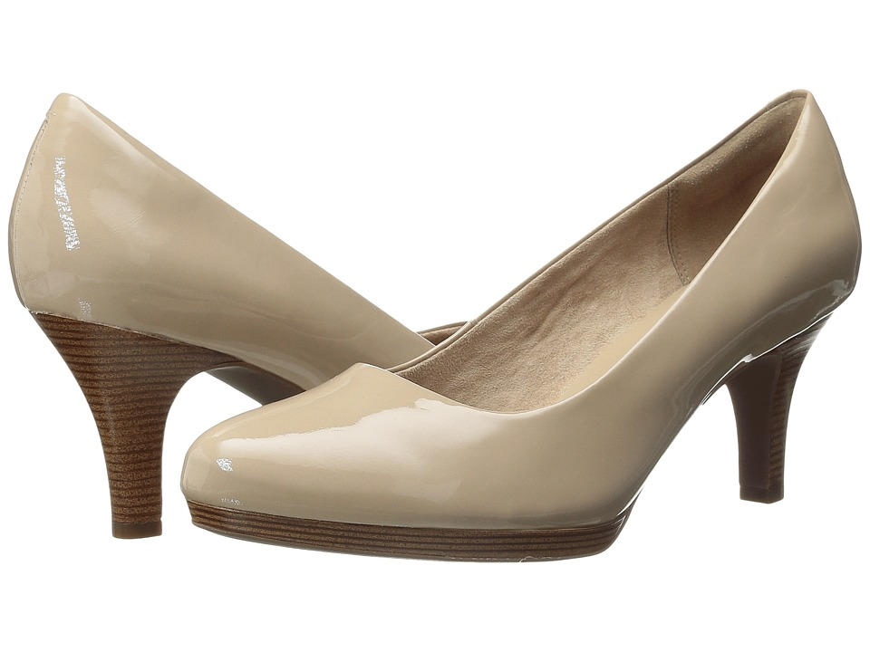Clarks - Tempt Appeal (Sand Patent Leather) High Heels