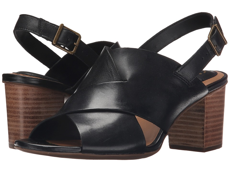 Clarks - Ralene Vive (Black Leather) High Heels