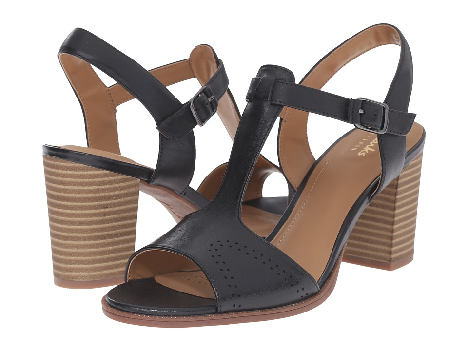 Clarks - Ciera Glass (Black Leather) High Heels