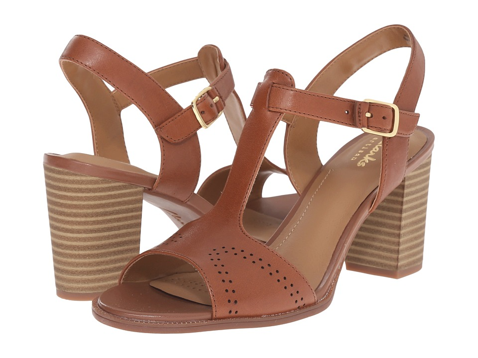 Clarks - Ciera Glass (Nutmeg Leather) High Heels