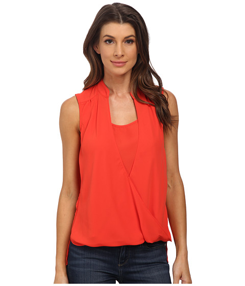 XOXO - Sleeveless Twisted Front Infinity Top (Orange) Women's Clothing