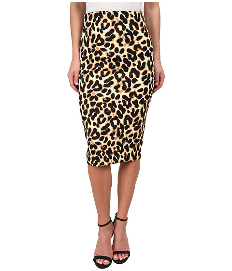 XOXO - Printed Suba Midi Skirt (Black/Taupe) Women's Skirt