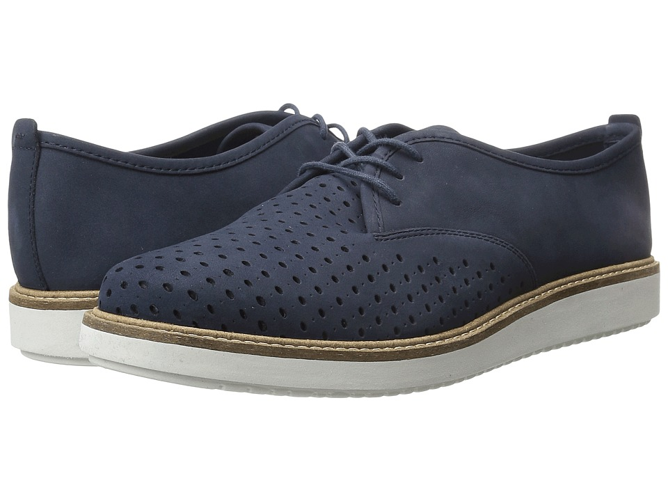 Clarks - Glick Resseta (Navy Nubuck) Women's Lace up casual Shoes