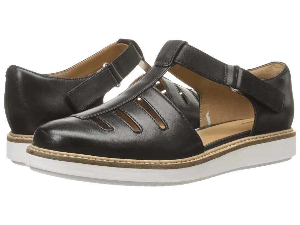 Clarks - Glick Delta (Black Leather) Women's Shoes