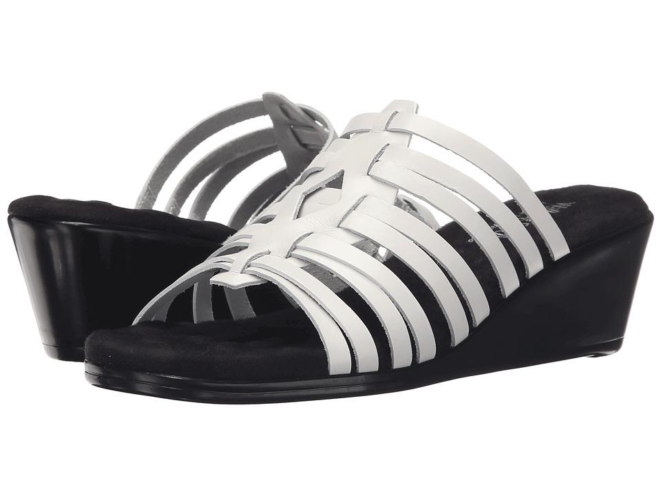 Walking Cradles - Nelson (White Soft Antanado) Women's Toe Open Shoes