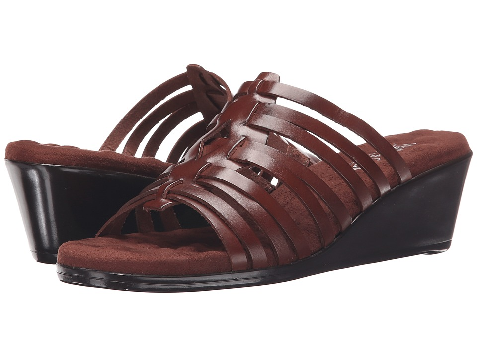 Walking Cradles - Nelson (Tobacco Soft Antanado) Women's Toe Open Shoes