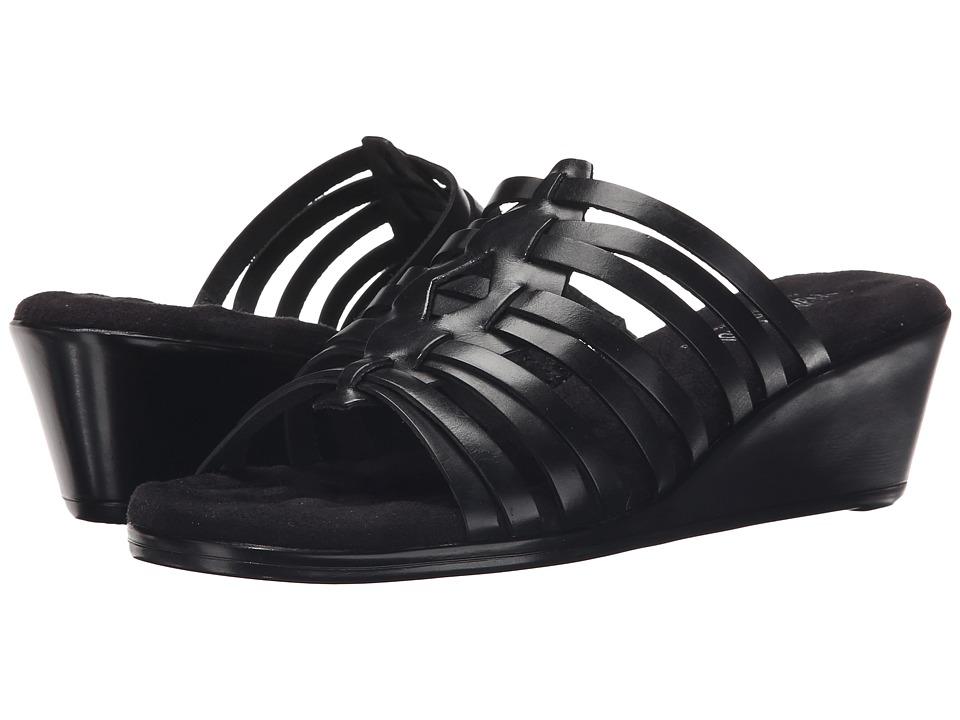 Walking Cradles - Nelson (Black Soft Antanado) Women's Toe Open Shoes
