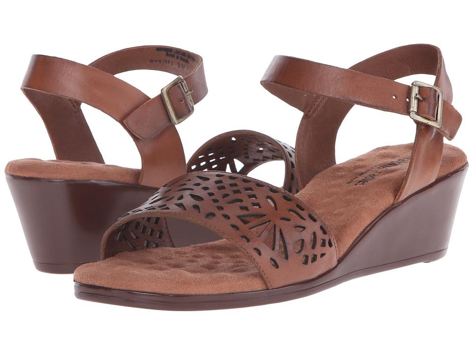 Walking Cradles - Nara (Luggage Soft Antanado) Women's Toe Open Shoes