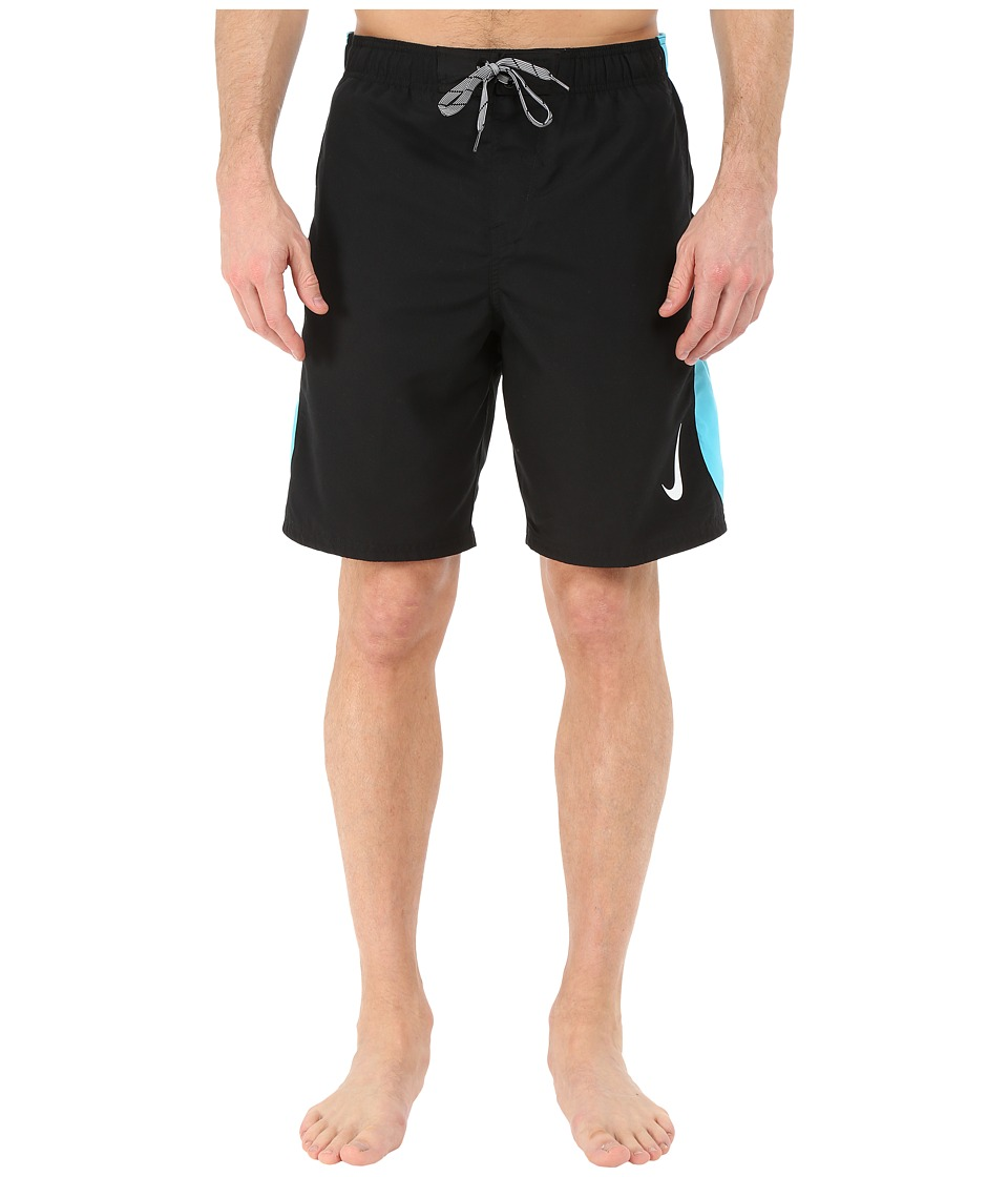 Nike - Color Surge Sway 9 Volley Short (Black) Men's Swimwear
