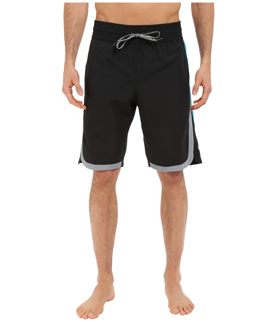 Nike - Color Surge Beacon 11 Volley Short (Black) Men's Swimwear