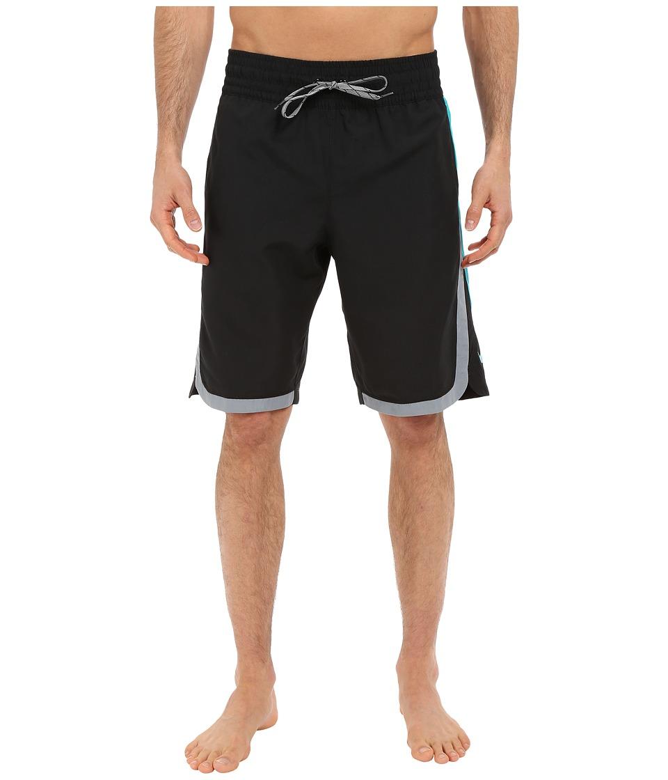 Nike - Color Surge Beacon 11 Volley Short (Black) Men's Swimwear