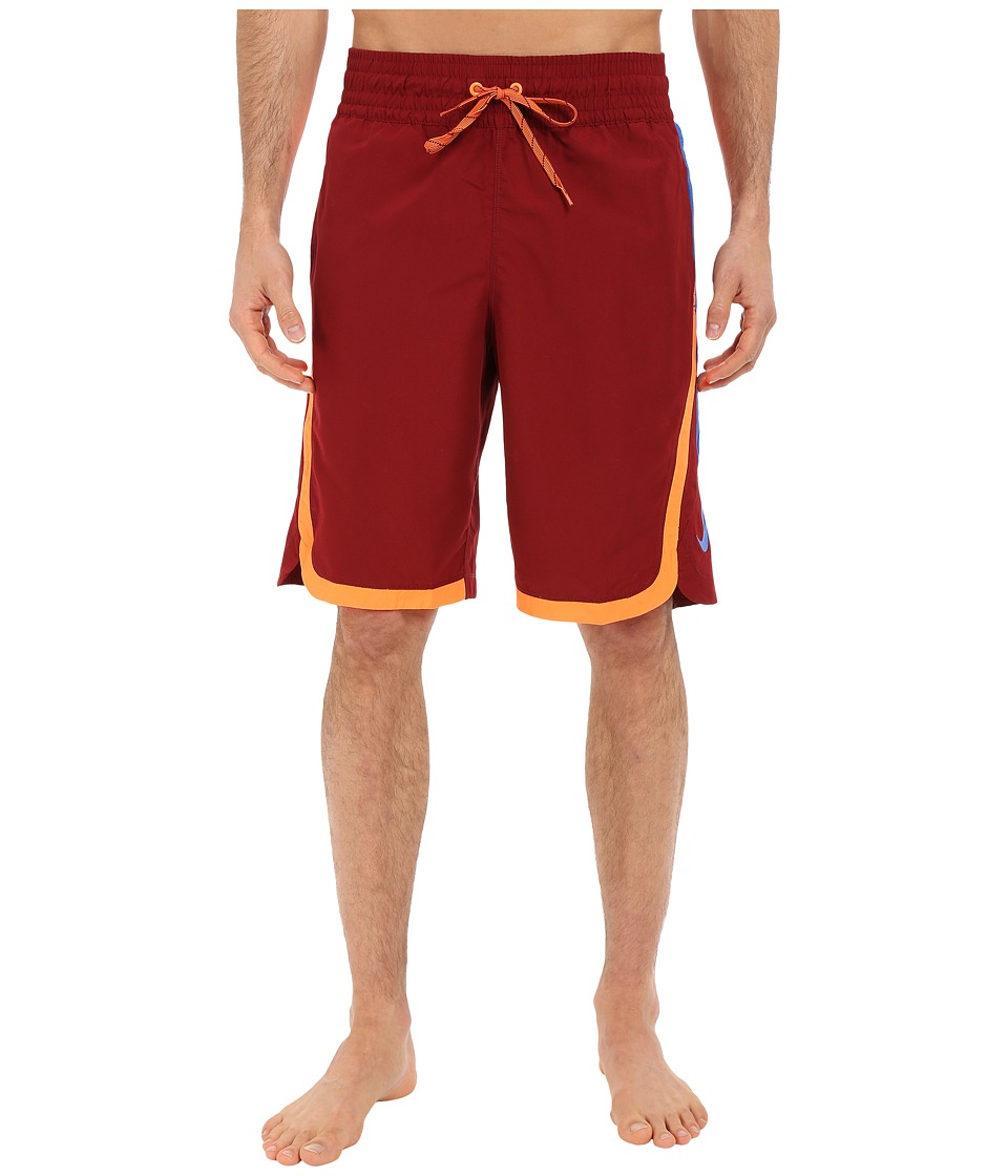 Nike - Color Surge Beacon 11 Volley Short (Team Red) Men's Swimwear