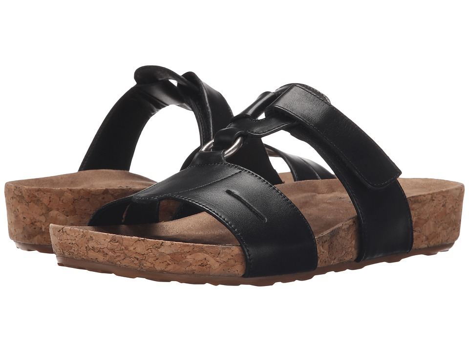 Walking Cradles - Penny (Black Soft Antanado/Cork Wrap) Women's Sandals