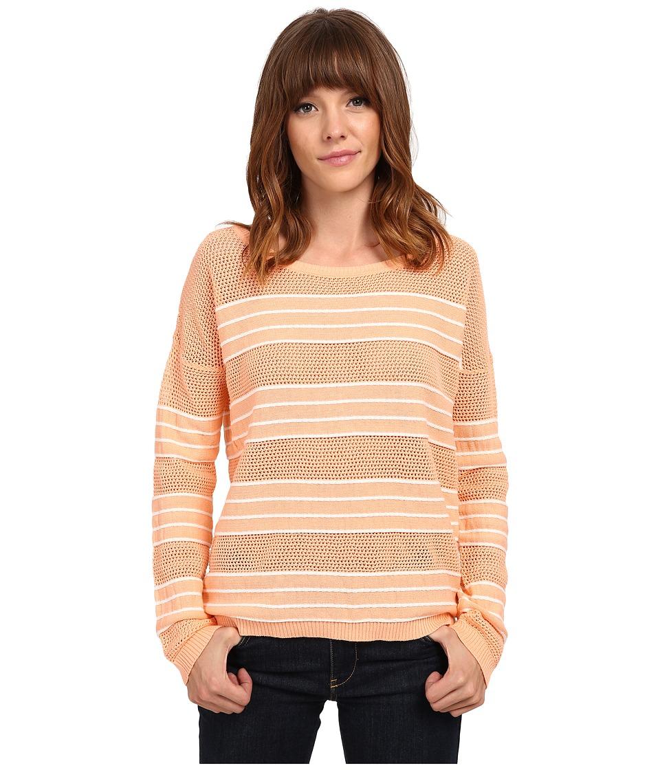 Olive & Oak - Rope Stripe Pullover (Peach/White) Women's Long Sleeve Pullover