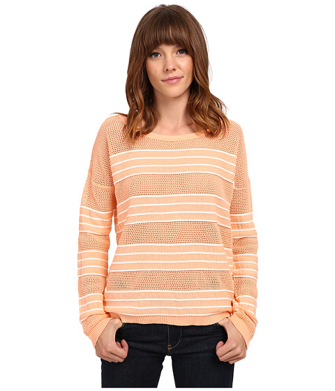Olive & Oak - Rope Stripe Pullover (Peach/White) Women