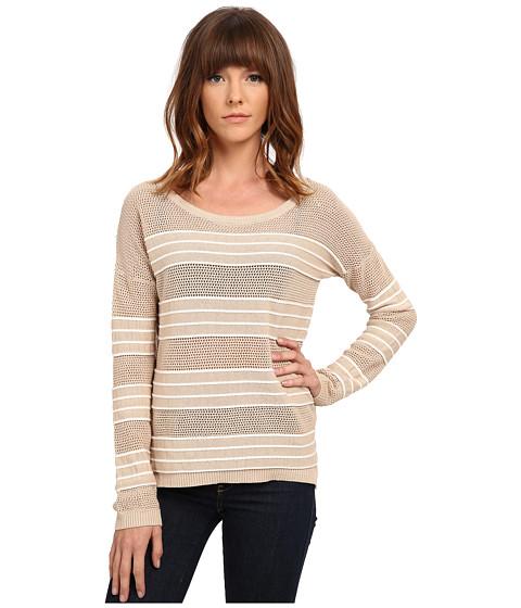 Olive & Oak - Rope Stripe Pullover (Vintage Linen/White) Women's Long Sleeve Pullover