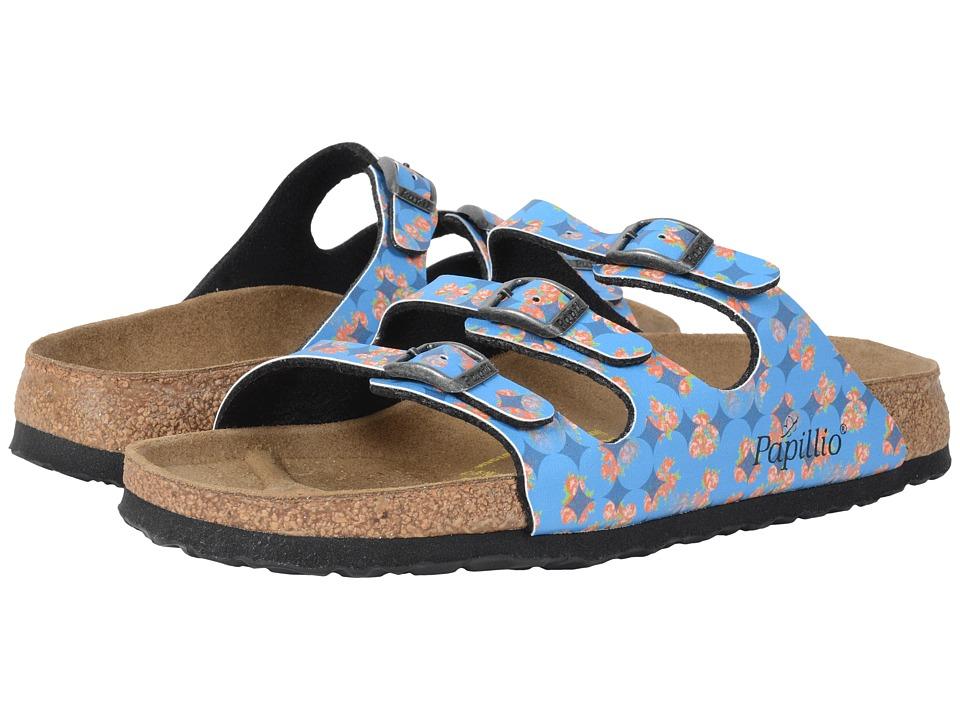 Birkenstock - Florida (Floral Circles Blue Birko-Flor ) Sandals