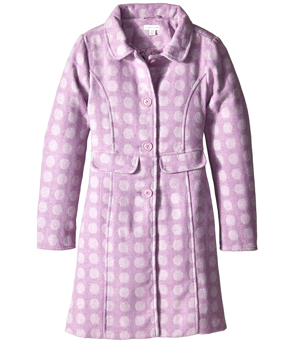 Pumpkin Patch Kids - Finding Anastasia Willow Spotty Coat (Little Kids/Big Kids) (Lilac) Girl's Coat