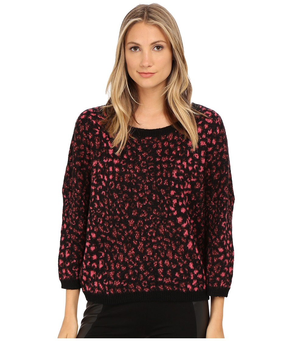 French Connection - Electric Leopard Knits (Ziggy Pink Multi) Women's Clothing