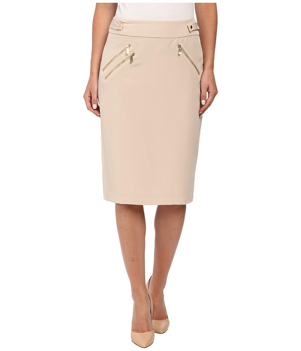Calvin Klein - Heavy Skirt w/ Zip (Latte) Women