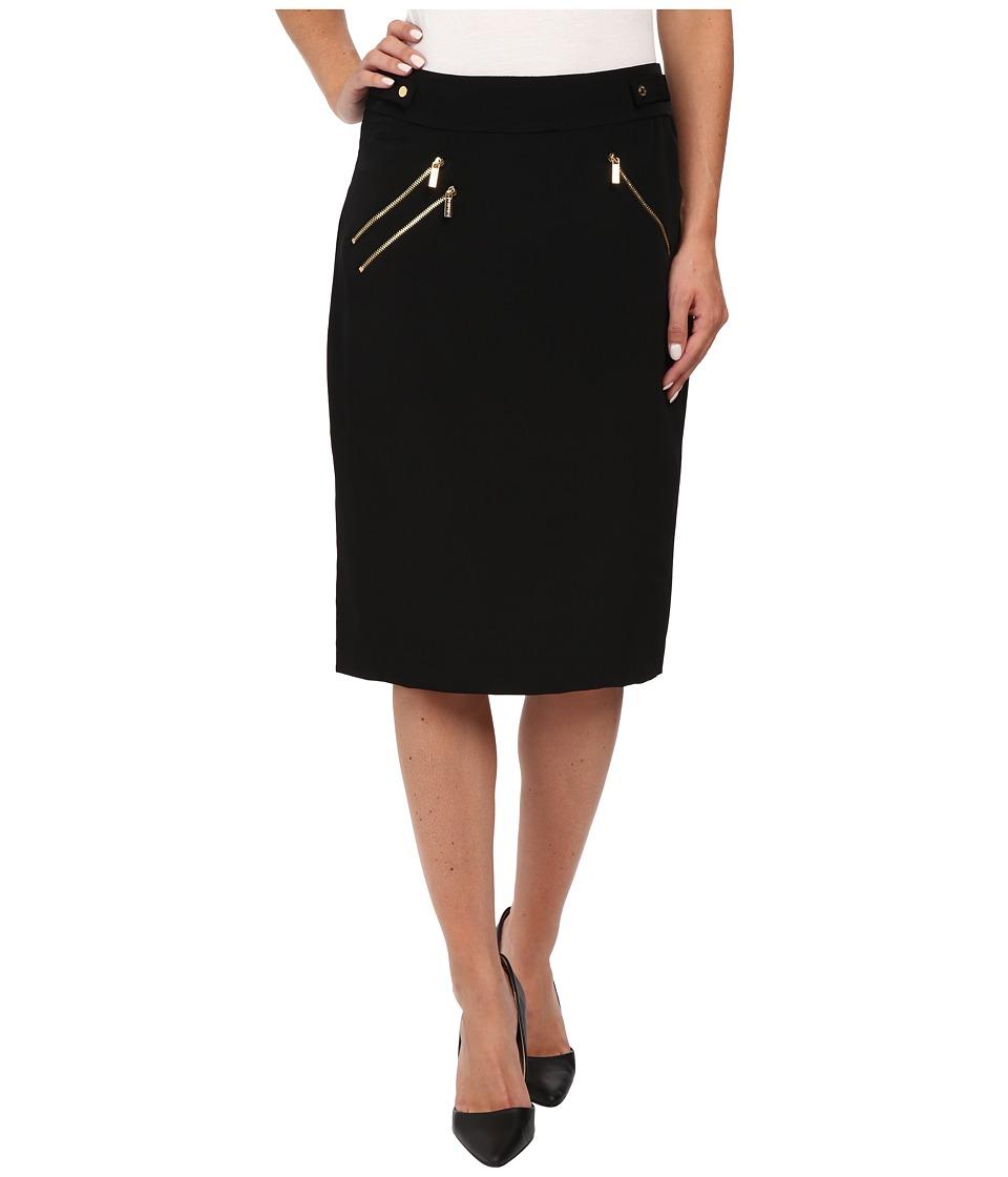 Calvin Klein - Heavy Skirt w/ Zip (Black) Women's Skirt