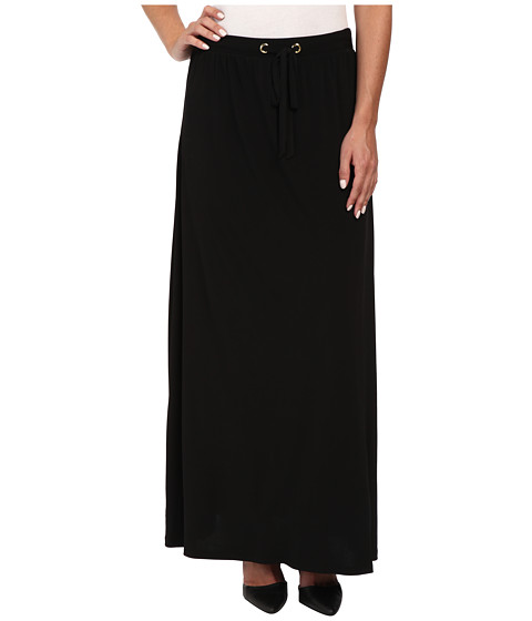 Calvin Klein - Maxi Skirt w/ Tie (Black) Women's Skirt