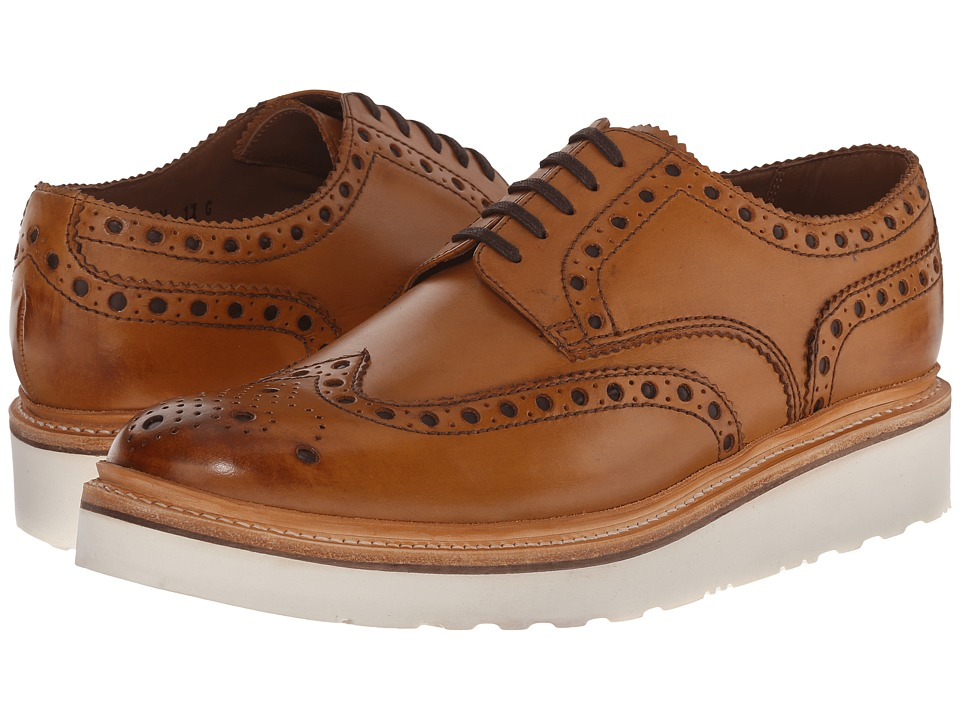 Grenson - Archie V (Tan Calf) Men's Lace Up Wing Tip Shoes