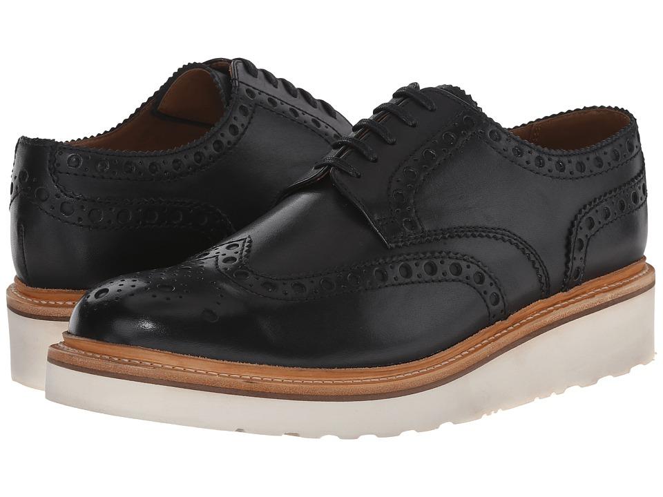 Grenson - Archie V (Black Calf) Men's Lace Up Wing Tip Shoes