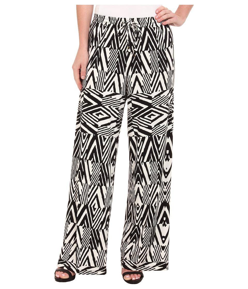 Calvin Klein - Print Wide Leg Pants (Black Peak) Women