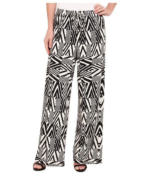 Calvin Klein - Print Wide Leg Pants (Black Peak) Women's Casual Pants