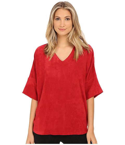 N by Natori - Terry Lounge Top (Brick) Women's Pajama